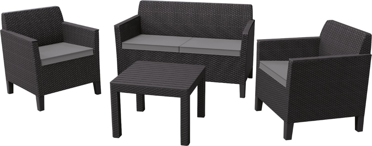 Комплект Allibert Chicago set graphite-coolgrey (Чикаго сет сив)