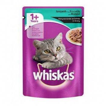 Whiskas Pouch  100g Заешко NEW 24/264